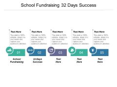 School Fundraising 32 Days Success Ppt PowerPoint Presentation Model Format