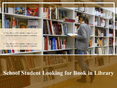 School Student Looking For Book In Library Ppt PowerPoint Presentation Icon Layouts PDF