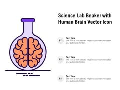 Science Lab Beaker With Human Brain Vector Icon Ppt PowerPoint Presentation Infographics Slideshow