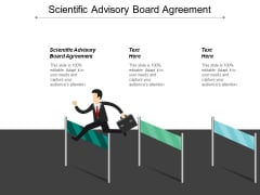 Scientific Advisory Board Agreement Ppt PowerPoint Presentation Infographics Samples Cpb