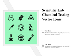 Scientific Lab Chemical Testing Vector Icons Ppt PowerPoint Presentation File Example Topics PDF