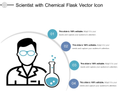 Scientist With Chemical Flask Vector Icon Ppt PowerPoint Presentation Layouts Elements PDF