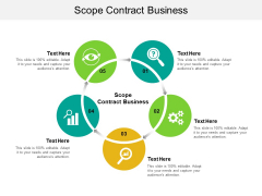 Scope Contract Business Ppt PowerPoint Presentation Infographic Template Samples Cpb