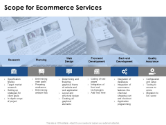 Scope For Ecommerce Services Ppt PowerPoint Presentation Outline Icon