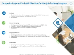Scope For Proposal To Build Effective On The Job Training Program Ppt File Background Image PDF