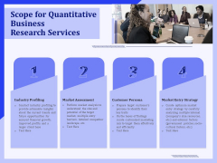 Scope For Quantitative Business Research Services Ppt PowerPoint Presentation Styles Slides PDF