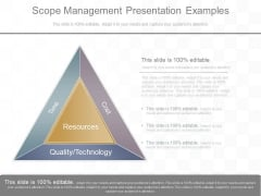 Scope Management Presentation Examples