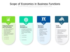Scope Of Economics In Business Functions Ppt PowerPoint Presentation File Gallery PDF
