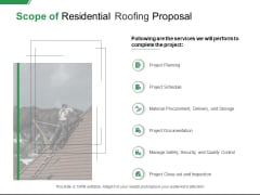 Scope Of Residential Roofing Proposal Ppt PowerPoint Presentation Pictures Smartart