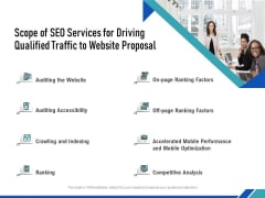 Scope Of SEO Services For Driving Qualified Traffic To Website Proposal Ppt PowerPoint Presentation Model Themes PDF