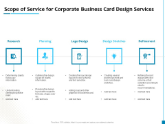 Scope Of Service For Corporate Business Card Design Services Clipart PDF