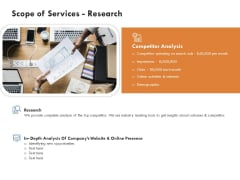 Scope Of Services Research Infographics PDF