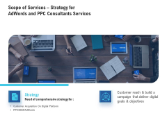 Scope Of Services Strategy For Adwords And PPC Consultants Services Infographics PDF