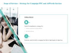 Scope Of Services Strategy For Campaign PPC And Adwords Services Demonstration PDF