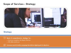Scope Of Services Strategy Summary PDF