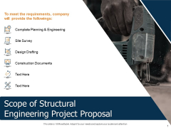 Scope Of Structural Engineering Project Proposal Ppt Pictures Themes PDF