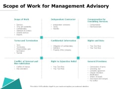 Scope Of Work For Management Advisory Ppt PowerPoint Presentation File Example Topics PDF