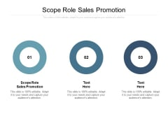 Scope Role Sales Promotion Ppt PowerPoint Presentation Model Show