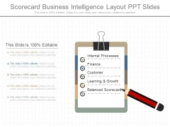 Scorecard Business Intelligence Layout Ppt Slides
