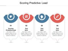 Scoring Predictive Lead Ppt PowerPoint Presentation Icon Show Cpb