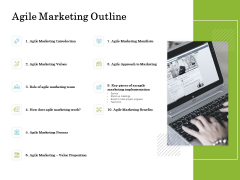 Scrum For Marketing Agile Marketing Outline Ppt PowerPoint Presentation Summary Example Topics PDF