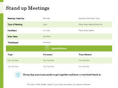 Scrum For Marketing Stand Up Meetings Ppt PowerPoint Presentation Summary Format PDF