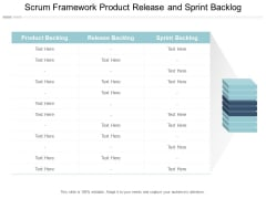 Scrum Framework Product Release And Sprint Backlog Ppt PowerPoint Presentation Infographics Introduction