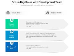 Scrum Key Roles With Development Team Ppt PowerPoint Presentation Show Slide Download PDF