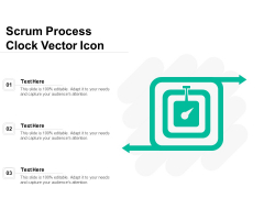 Scrum Process Clock Vector Icon Ppt PowerPoint Presentation Infographics Outfit PDF