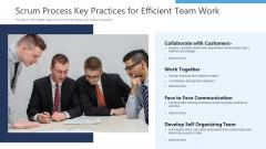 Scrum Process Key Practices For Efficient Team Work Ppt Model Design Templates PDF