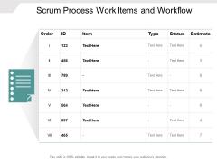 Scrum Process Work Items And Workflow Ppt PowerPoint Presentation Portfolio Themes
