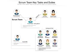 Scrum Team Key Tasks And Duties Ppt PowerPoint Presentation Slides Visuals PDF