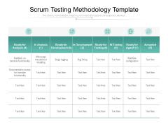 Scrum Testing Methodology Template Ppt PowerPoint Presentation Summary Elements