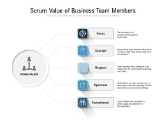 Scrum Value Of Business Team Members Ppt PowerPoint Presentation Gallery Designs Download PDF