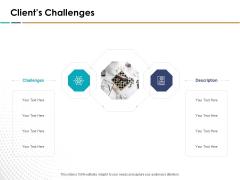 Search Engine Optimization Clients Challenges Ppt Infographics Images PDF