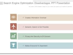 Search Engine Optimization Disadvantages Ppt Presentation