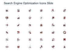 Search Engine Optimization Icons Slide Ppt PowerPoint Presentation Gallery Infographic Template PDF