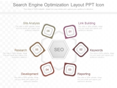 Search Engine Optimization Layout Ppt Icon