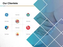 Search Engine Optimization Our Clientele Ppt Slides Sample PDF