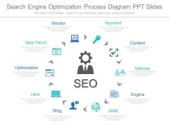Search Engine Optimization Process Diagram Ppt Slides
