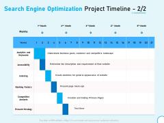 Search Engine Optimization Project Timeline Strategy Ppt Model Grid PDF