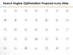 Search Engine Optimization Proposal Icons Slide Ppt Slides Visuals PDF