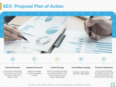 Search Engine Optimization Proposal SEO Proposal Plan Of Action Ppt Summary Slides PDF