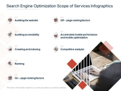 Search Engine Optimization Scope Of Services Infographics Ppt PowerPoint Presentation Gallery Graphics Pictures PDF