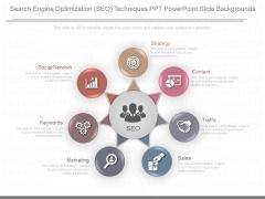 Search Engine Optimization Seo Techniques Ppt Powerpoint Slide Backgrounds