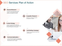 Search Engine Optimization Utilities Proposal SEO Services Plan Of Action Infographics PDF