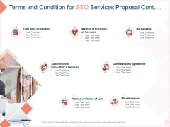 Search Engine Optimization Utilities Terms And Condition For SEO Services Proposal Cont Template PDF