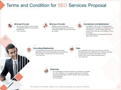 Search Engine Optimization Utilities Terms And Condition For SEO Services Proposal Professional PDF