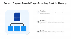 Search Engines Results Pages Boosting Rank In Sitemap Ppt PowerPoint Presentation Gallery Vector PDF