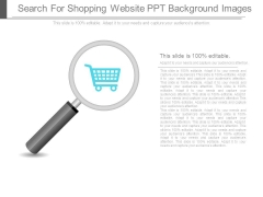 Search For Shopping Website Ppt Background Images